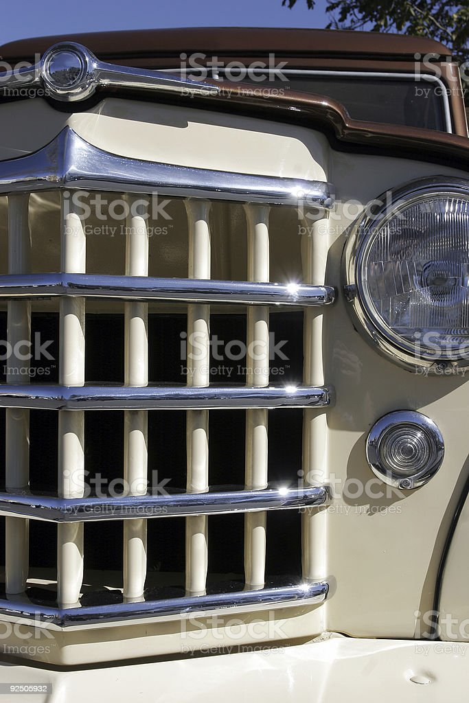 Chrome Grille royalty-free stock photo