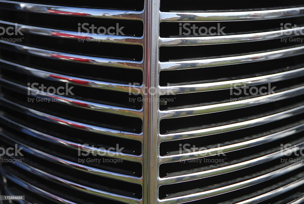 Chrome Grill royalty-free stock photo