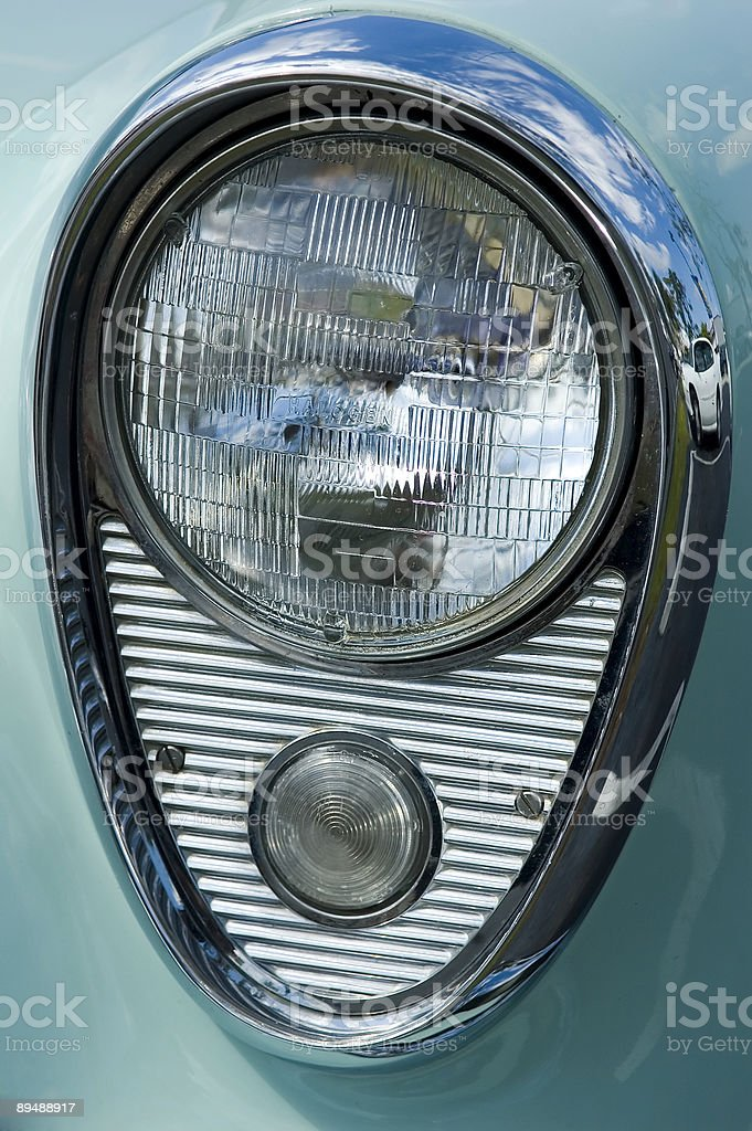 chrome headlamp 1 royalty-free stock photo