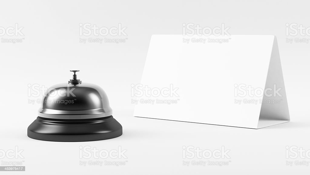 Chrome Hotel Bell royalty-free stock photo