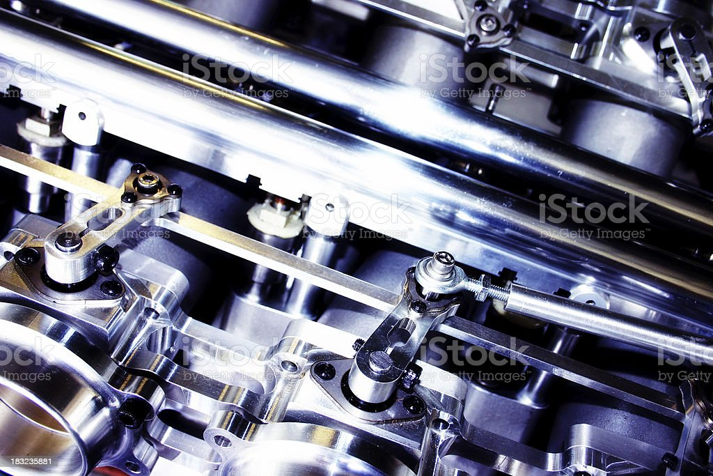 Chrome Machine part royalty-free stock photo