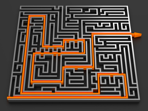 Chrome Maze Stock Photo - Download Image Now