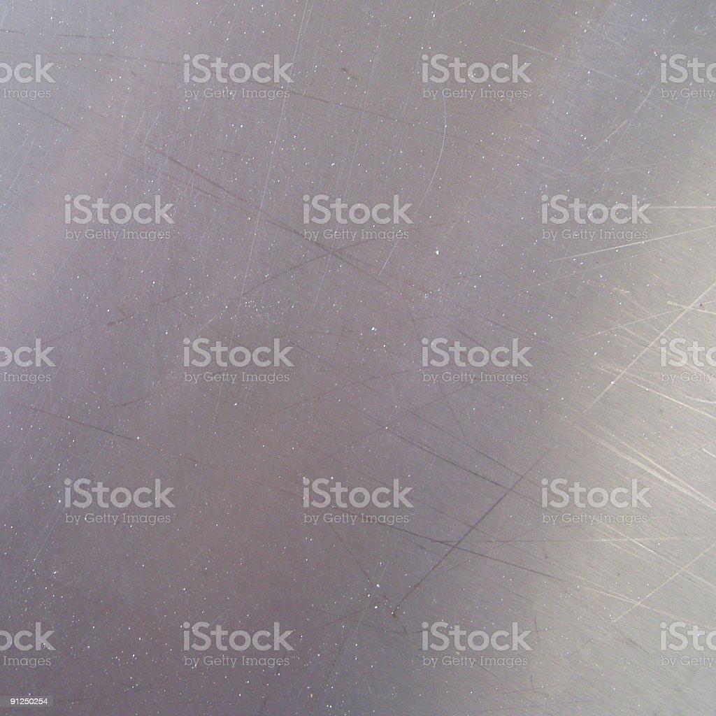 Chrome metallic plate (square) royalty-free stock photo