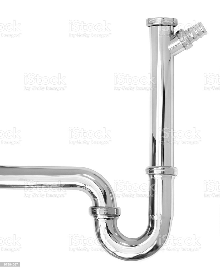 chrome pipe royalty-free stock photo