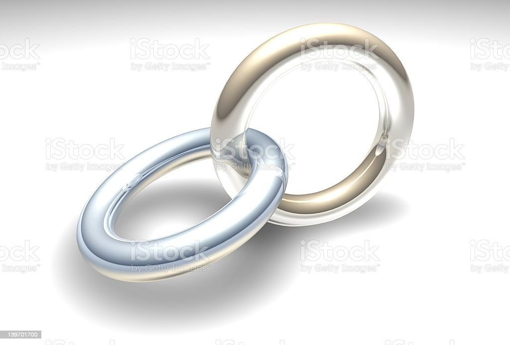 Chrome rings stock photo
