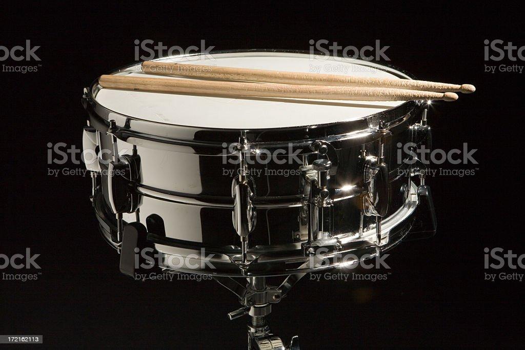Chrome Snare Drum stock photo