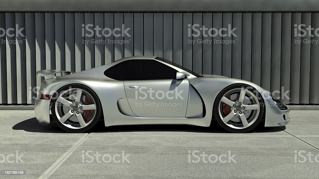 Chrome Sports Car stock photo