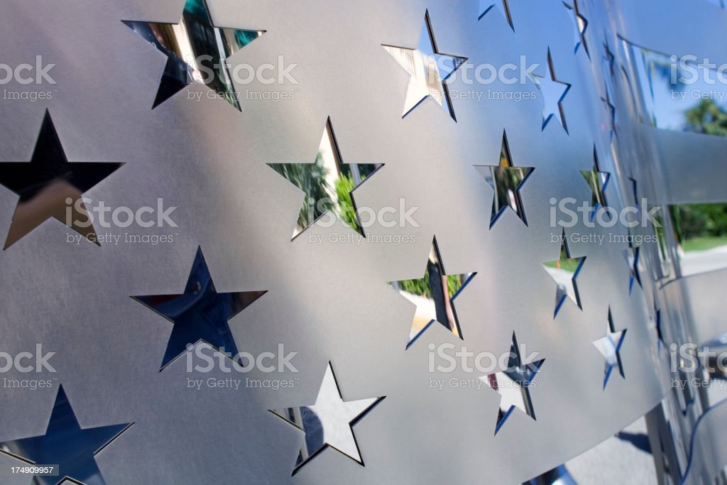 Chrome Stars stock photo
