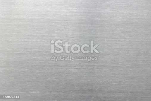 Chrome surface background with horizontal grain.Similar images -