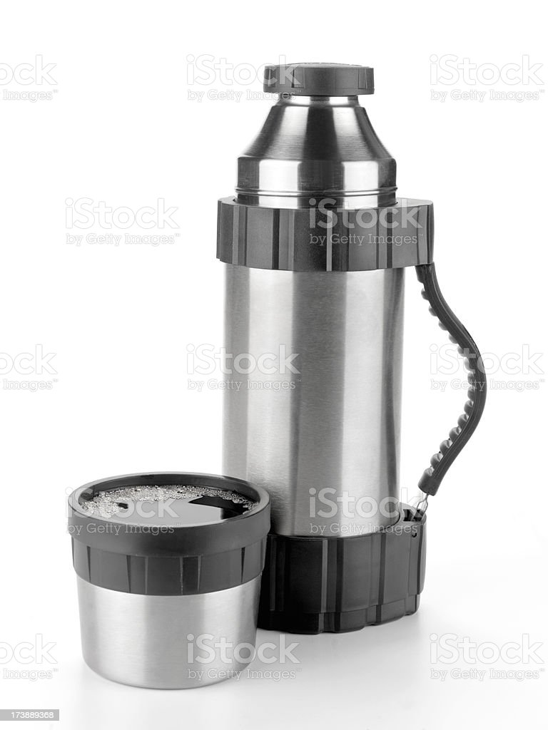 Chrome Thermos with Coffee royalty-free stock photo