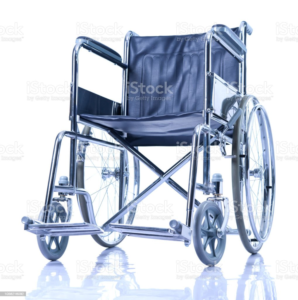 chrome wheelchair stock photo
