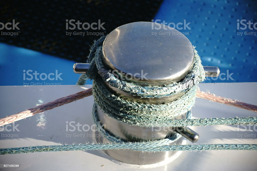 Chromed bollard stock photo