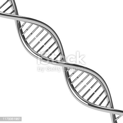 istock Chromed DNA molecule 1173351951