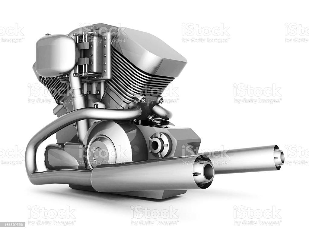 Verchromten Motorrad-Motor – Foto