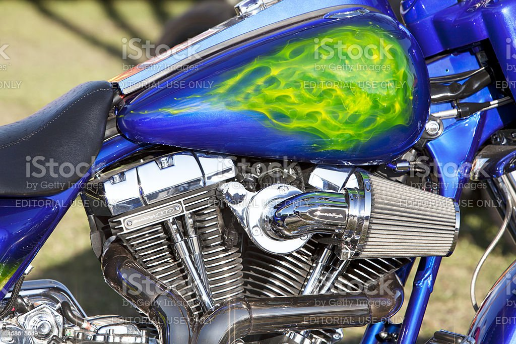 Chromed out Harley Davidson royalty-free stock photo