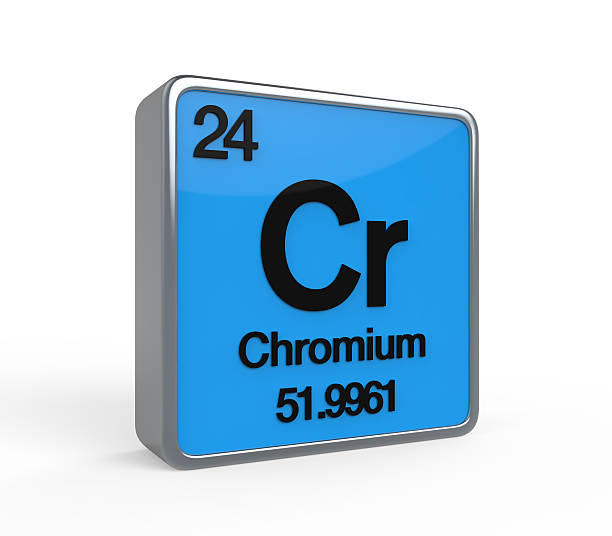 Chromium Element Periodic Table stock photo