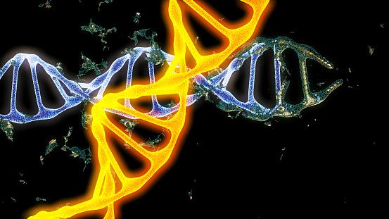 istock Chromosome . 3D render 673192770