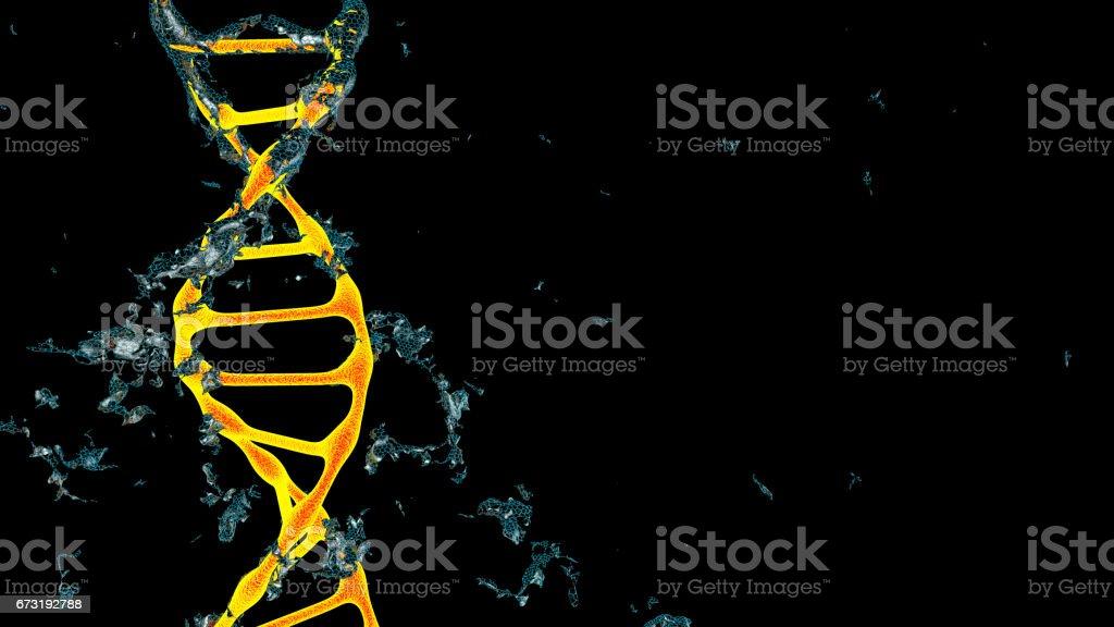 Chromosome . 3D render stock photo