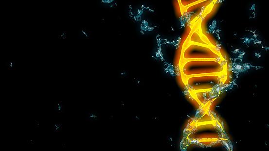 istock Chromosome . 3D render 673192830