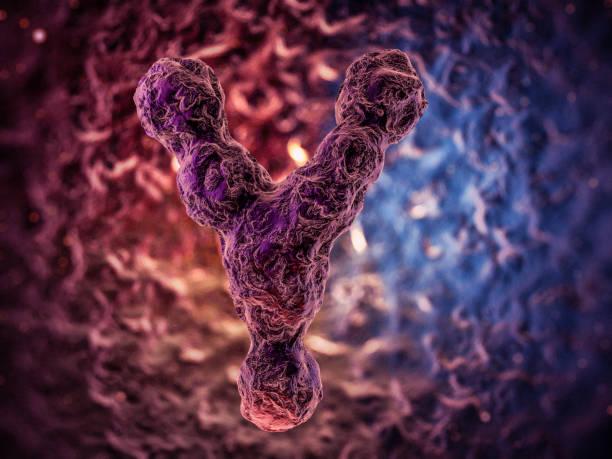 Chromosomes, gene mutation, genetic code. 3D rendering stock photo