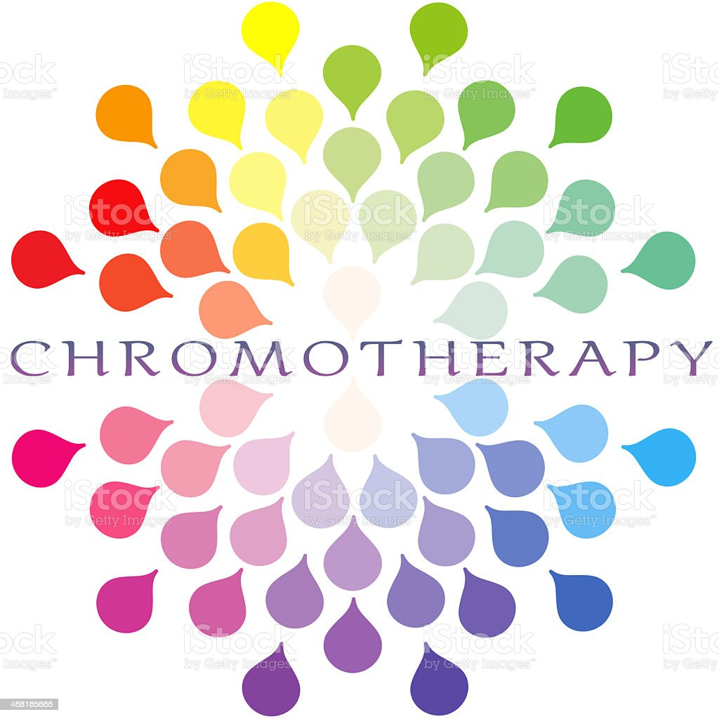 Chromotherapy stock photo