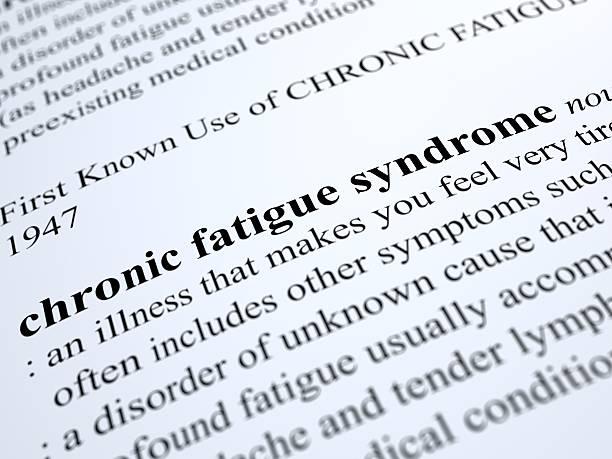 chronische erschöpfung-syndrom - definition krankheit stock-fotos und bilder