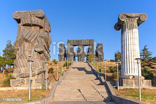 Monument known as Chronicle of Georgia or Stonehenge of Georgia, in Tbilisi, Georgia.