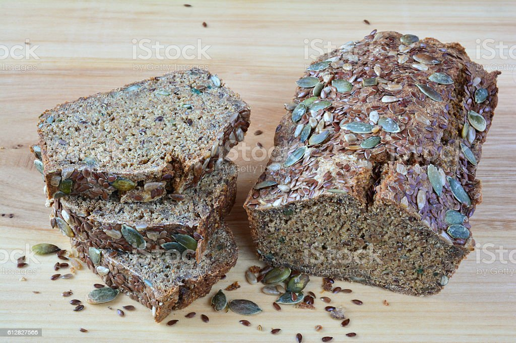 Chrono bread with seeds stock photo