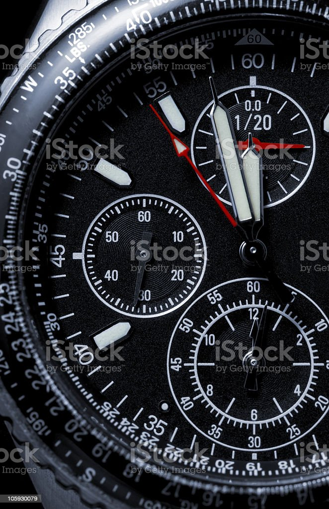 chronograph wristwatch royalty-free stock photo