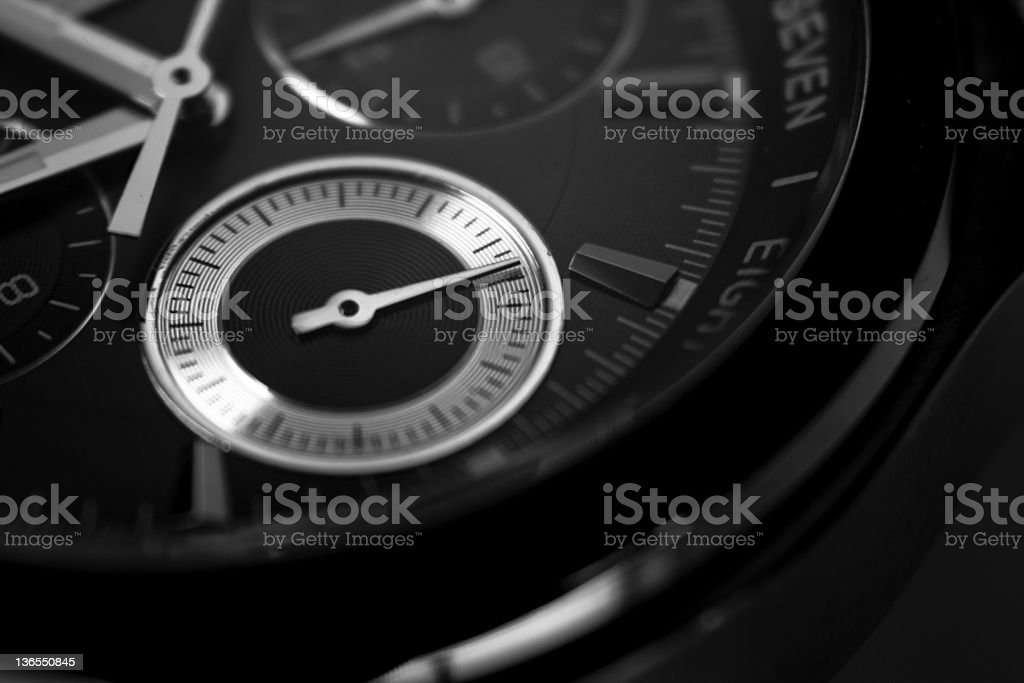 Chronometer on classy watch stock photo