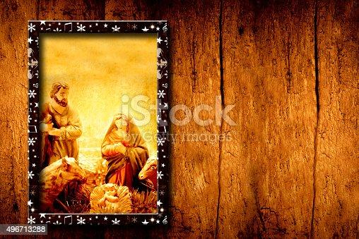 678159134 istock photo Chrristmas templates Nativity Scene 496713288