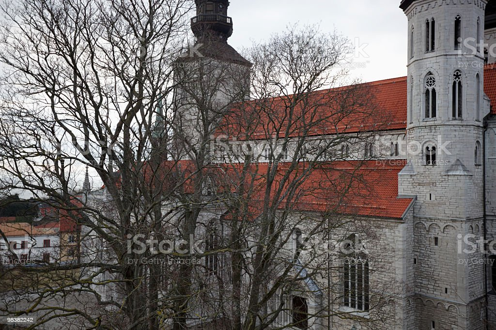 Chruch and tree royalty-free stock photo