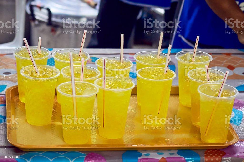 Chrysanthemum drinking water stock photo