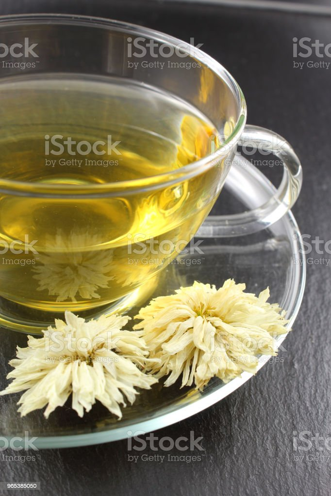 chrysanthemum tea from dried white chrysanthemum morifolium flow royalty-free stock photo