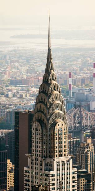 chrysler building aerial view  new york manhattan photo stock - central park manhattan zdjęcia i obrazy z banku zdjęć