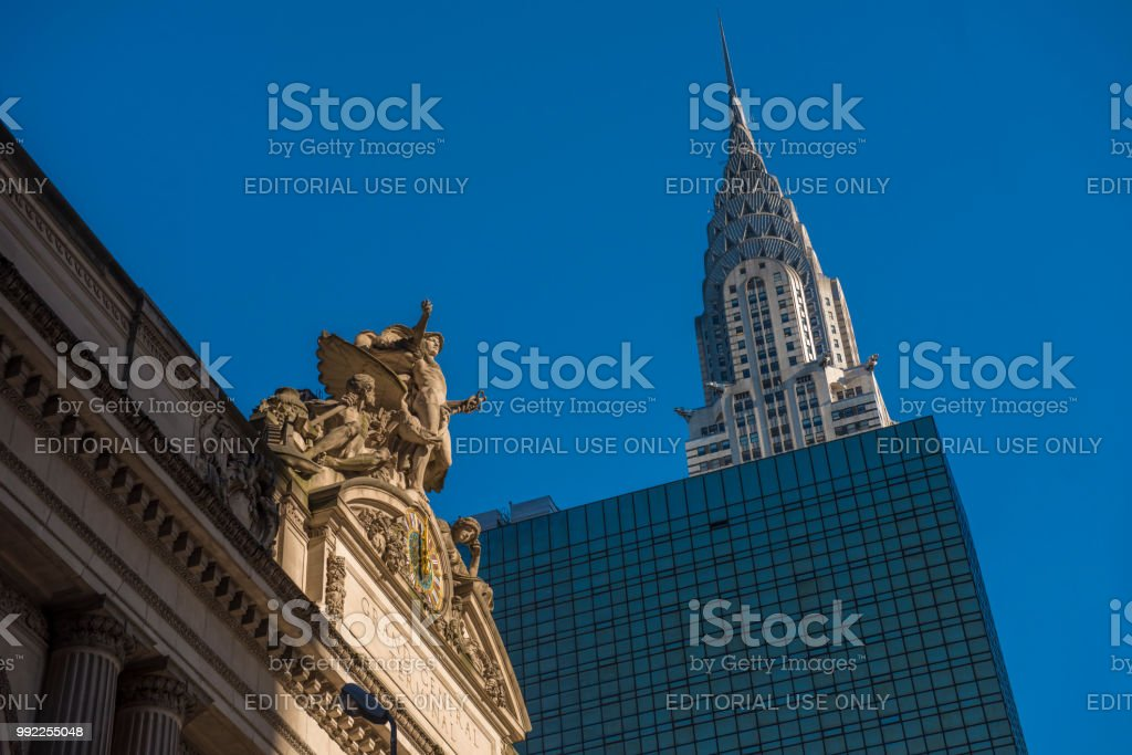 Chrysler Building by Grand Central Station stock photo