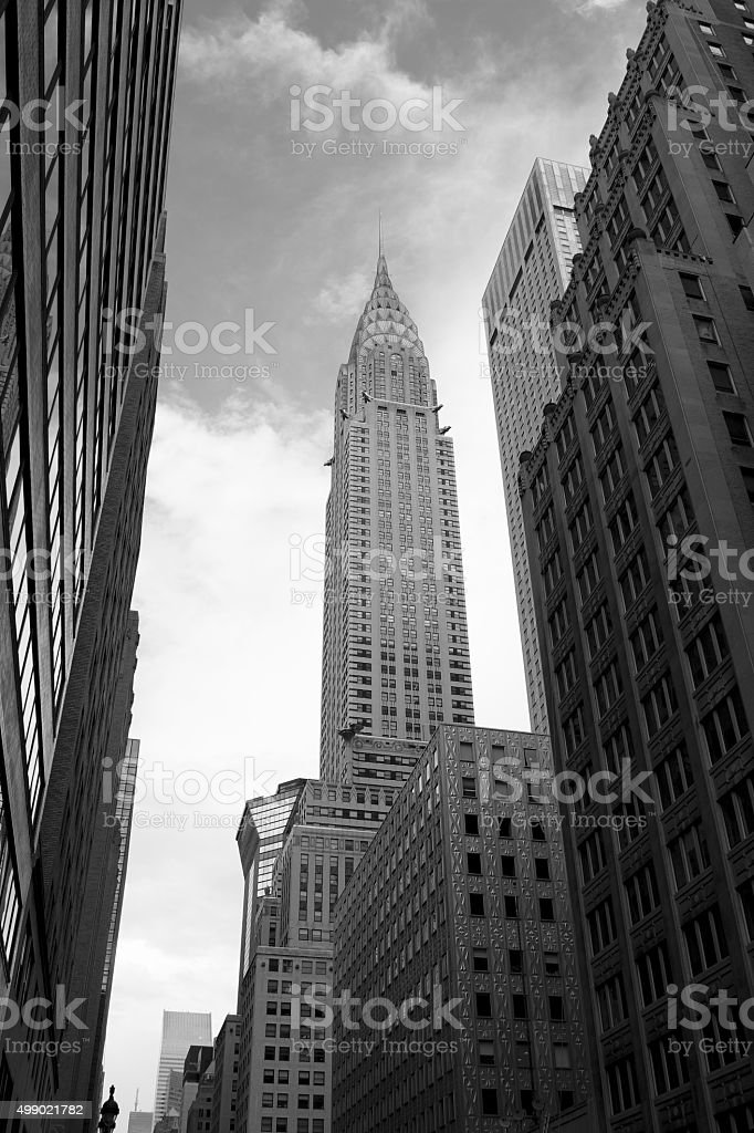 Chrysler Building in Black and White stock photo