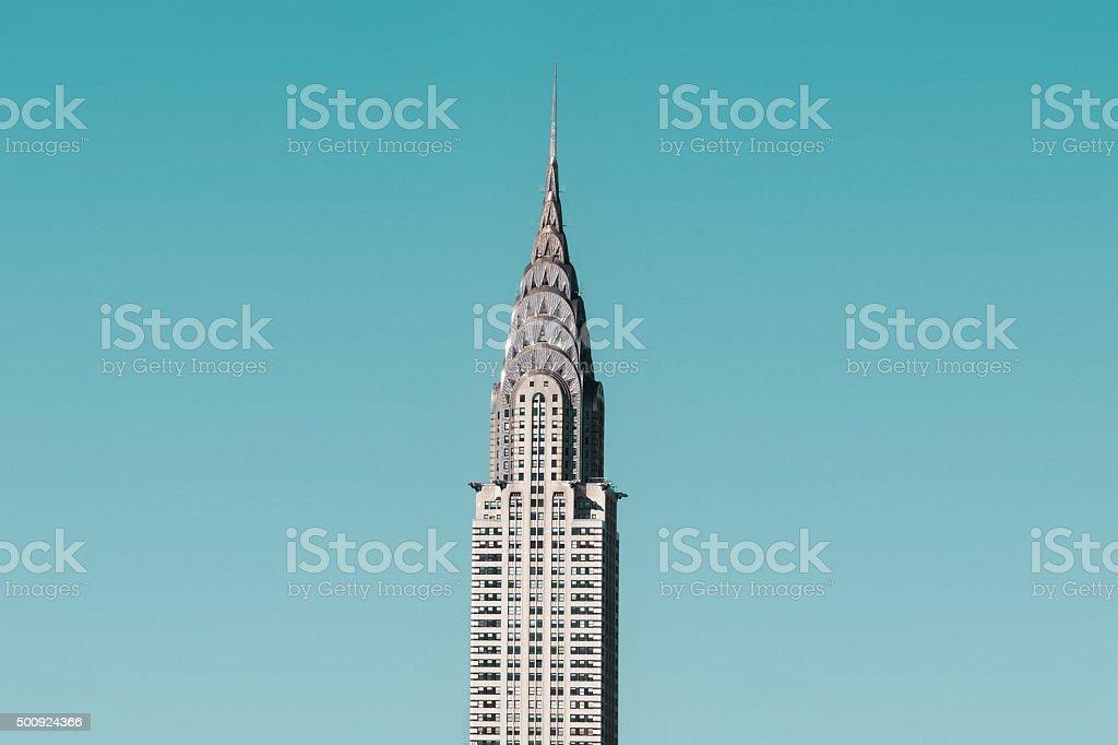 Chrysler Building in New York City stock photo