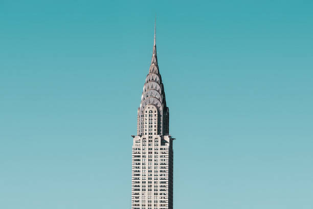 chrysler building in new york city - chrysler building stock photos and pictures