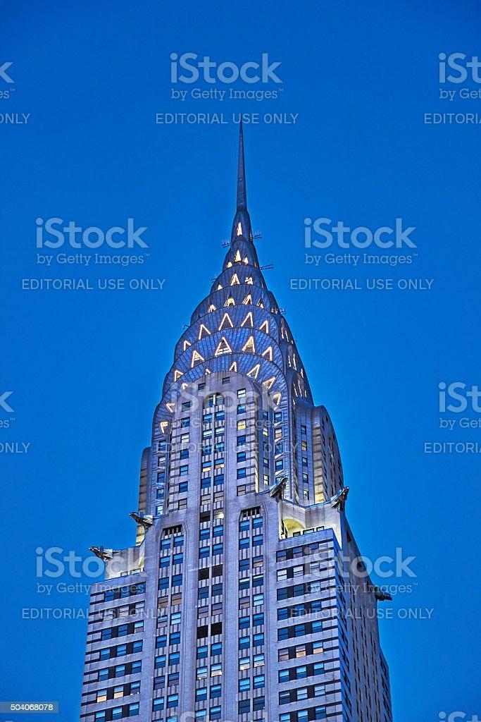 Chrysler building in New York stock photo