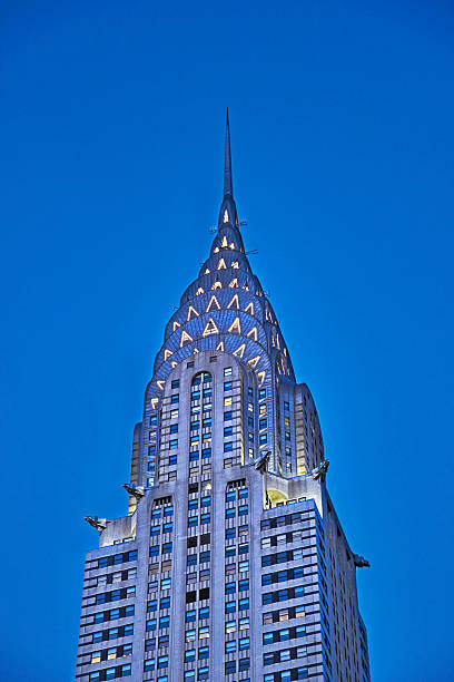 chrysler building in new york - chrysler building stock photos and pictures