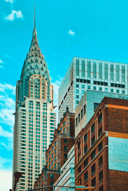 Chrysler Building is an Art Deco skyscraper in Midtown Manhattan, New York City. stock photo