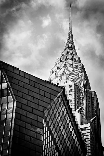 chrysler building, manhattan, new york - chrysler building stock photos and pictures