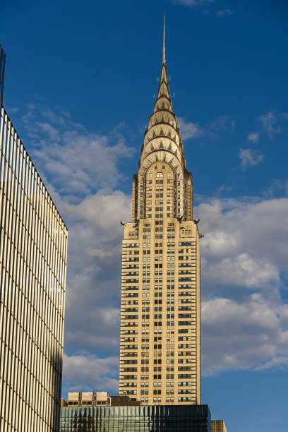 Chrysler Building One of the most famous skyscrapers in New York City artistical stock pictures, royalty-free photos & images