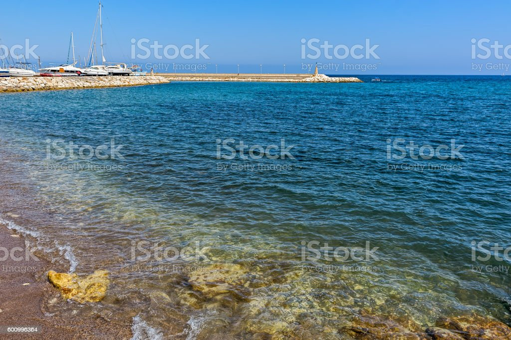 Chrysohou Bay Marina, Cyprus stock photo