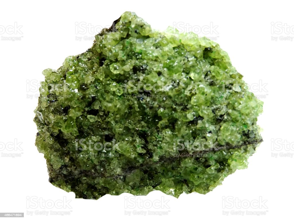chrysolite geode geological crystals stock photo