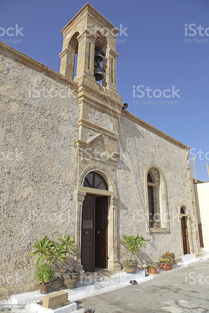 Chrysoskalitissa Monastery at Elafonisi, Crete - Greece stock photo