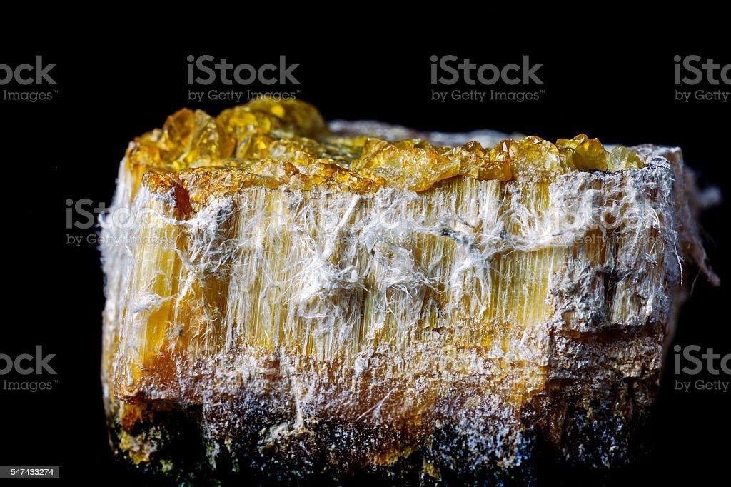 Chrysotile Asbestos Ore Specimen stock photo