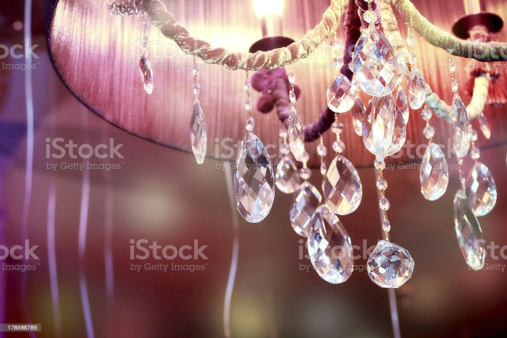 Chrystal chandelier close-up royalty-free stock photo