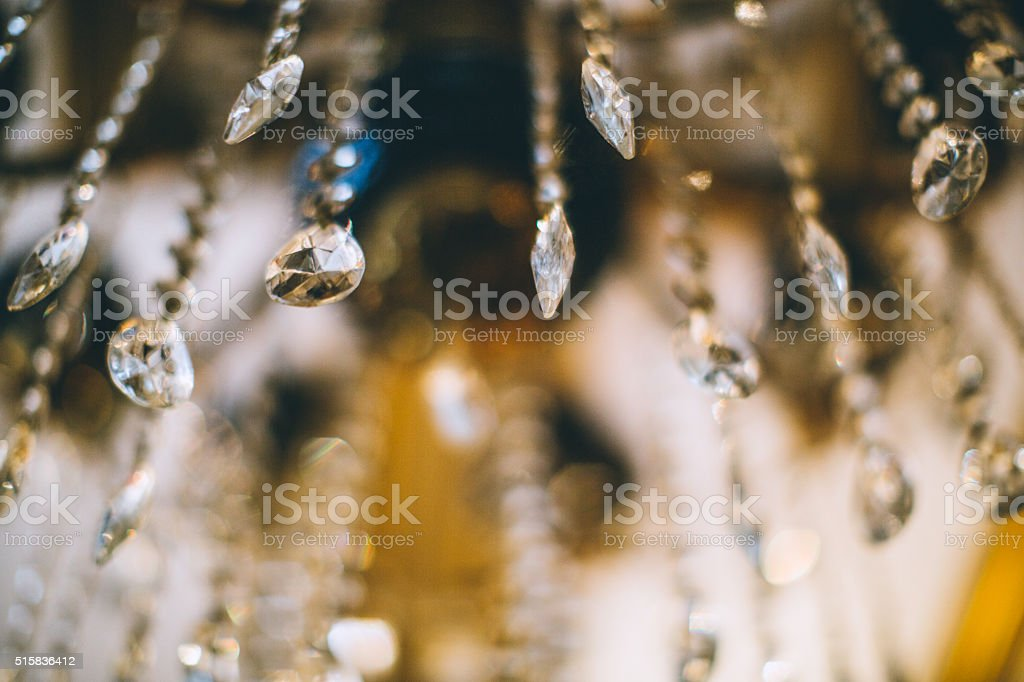 Chrystal chandelier stock photo